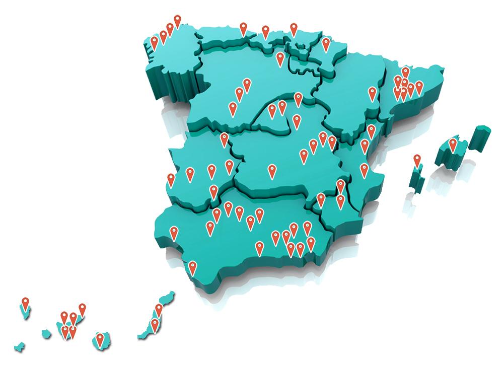 MAPA EMISORAS ESPAÑA ABRIL 2019