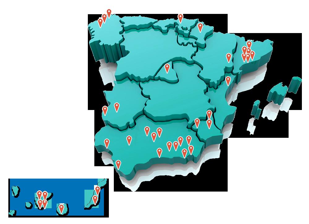 MAPA EMISORAS ESPAÑA