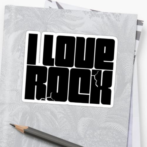 PEGATINA I LOVE ROCK