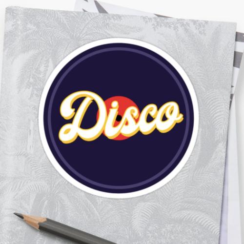 pegatina disco