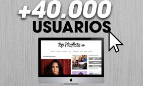 'TopPlaylists.es' supera los 40K usuarios únicos mensuales